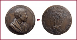 Friuli, Eustachio Boiano (1463- after 1525), student of agriculture, from Cividale del Friuli, A CONTEMPORARY CAST bronze medal (1525), 70 mm,120,11 g...