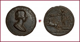 Mantua, Antonia del Balzo (1441-1538), wife (1479) of Gianfrancesco Gonzaga di Ròdigo, CONTEMPORARY CAST bronze medal, 29,65 g Ae, 41 mm, opus: Pier J...