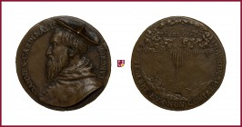 Milan, Giovanni Gerolamo Morone, (1509-1580), (1580), president of Council of Trent, Bishop of Modena and Novara CONTEMPORARY CAST bronze medal, 40 gr...