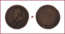 Venice, Pietro Aretino (1492-1556), renaissance writer and poet, STRUCK bronze medal, 1537, 44,34 g Cu/Ae, 39 mm, opus: L. Leoni, bust left/Latin insc...