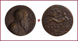 Venice, Tommaso Rangone (1485-1577), philologist, CONTEMPORARY CAST bronze medal, (c. 1560), 22,77 g Cu/Ae, 40 mm, pus: Matteo Pagani, The Creation of...