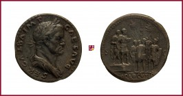 Galba (69 AD), later aftercast bronze medal in a form of Roman Sestertius (16th Century), 23,55 Cu/Ae, 34-35 mm, SER.GALBA.IMP. .CAESAVG, laureate bus...