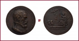 Spain, Ferdinando Álvarez de Toledo, duke of Alba (1507-1582), governor of the Spanish Netherlands (1567-1573), CONTEMPORARY CAST bronze medal, (1568,...