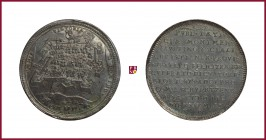 Austria, Rudolph II (1576-1508), The Victory of Raab/Györ, Hungary, in 1598 by Adolph, count Swarzenberg, silver medal, 11,34 g Ag, 34 mm, opus: V. Ma...