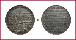 Austria, Leopold I (1657-1705), silver medal, (1683), 27,06 g Ag, 44 mm, The Vienna Siege 1683, panoramic view/German inscription in 10 lines, overstr...