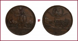 Austria, Leopold I (1657-1705), bronze medal, 1686, 38,38 g Cu, 48 mm, opus: J.J. Wolrab (Nuremberg), The Victory against Turks at Ofen/Pest, Hungary,...