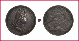Austria, Karl VI (1711-1740), silver medal, (1717), 29.31 g Ag, 44 mm, opus: G. Vestner/ P. H. Müller, Belgrade recaptured 1717, bust right/map with i...