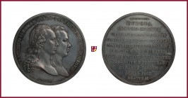 Austria, Franz II (1792-1806/35), silver medal, 1799, 26,22 g Ag, 49 mm, opus: P. Baldenbach, The Military Union with Russia, emperors' busts right/La...