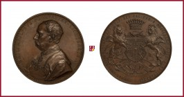 Austria, Franz Joseph (1848-1916), Adolf Podstatzky-Lichtenstein, bronze medal, 1884, 58,51 g Cu/Ae, 49 mm, opus: A. Scharff, Fifty Years as Knight of...