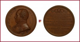 Belgium, Baron Goswin de Stassart (1780-1854), general and statesman, copper medal, 1839, 59,92 g Cu, 51 mm, opus: J. Hart, The Election and Dismissal...