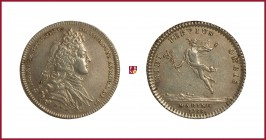 France, Louis Alexandre de Bourbon, Count of Toulouse, Admiral of France, son of Louis XIV, silver token, 1733, 6,60 g Ag, 29 mm, bust right/Hermes to...