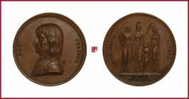 Napoleon I (1804-1815), copper medal, 1797, 41,92 g Cu, 48 mm, opus: H. Vasallo/J. Slawirck, Constitution of Cisalpine Republic, bust left/Gallia and ...