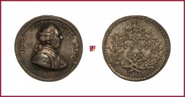 France, Louis XVIII (1815-1824), silver medaillette, 1,58 g Ag, 13 mm, bust right/fleur-de-lis in wreath; crown above, Collignon 596