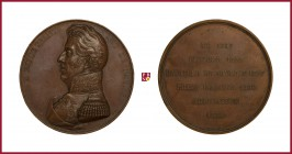 France, Charles X (1824-1830), coper medal, 1834, 55,79 g Cu, 52 mm, opus: A. Caqué, The Conquest of Algiers 1830, bust left/inscription in 6 lines, E...
