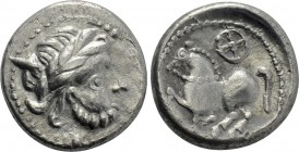 "EASTERN EUROPE. Imitations of Philip II of Macedon (3rd century BC). Drachm. ""Dachreiter"" type."