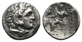 Kings of Macedon, Philip III Arrhidaios (323-317 BC). AR Drachm (17mm, 4.10g, 11h). In the name and types of Alexander III. Kolophon, c. 322-319 BC. H...