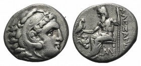 Kings of Macedon, Antigonos I Monophthalmos (Strategos of Asia, 320-306/5 BC, or king, 306/5-301 BC). AR Drachm (17mm, 4.11g, 1h). In the name and typ...