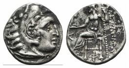 Kings of Macedon, Antigonos I Monophthalmos (Strategos of Asia, 320-306/5 BC, or king, 306/5-301 BC). AR Drachm (18mm, 4.16g, 11h). In the name and ty...