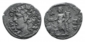 Mysia, Parion. Pseudo-autonomous issue, 3rd century AD. Æ (21mm, 3.89g, 12h). Head of Parion l. R/ Genius standing l., holding patera over altar and c...