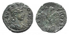 Troas, Alexandria. Pseudo-autonomous issue, c. mid 3rd century AD. Æ (20mm, 4.79g, 6h). Turreted and draped bust of Tyche r., with vexillum over shoul...