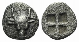 Troas, Lamponeia, 4th century BC. AR Hemiobol (6mm, 0.29g). Bull's head facing. R/ Quadripartite incuse square. Klein 316; Traité II 2292, pl. CLXIII,...