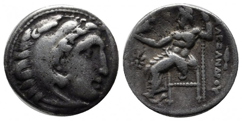 Kings of Macedon. Alexander III (the Great), 336-323 BC. AR Drachm (17mm, 4.12g)...