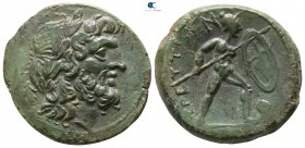 Bruttium. The Brettii 211-208 BC. Reduced Uncia Æ