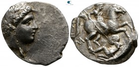Kings of Paeonia. Patraos 335-315 BC. Tetradrachm AR