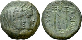 KINGS OF SKYTHIA. Kanites (Circa 210-195 BC). Ae. Bizo-, magistrate.