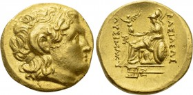 KINGS OF THRACE (Macedonian). Lysimachos (305-281 BC). GOLD Stater. Byzantion.