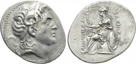 KINGS OF THRACE (Macedonian). Lysimachos (305-281 BC). Tetradrachm. Magnesia pros Maiandros.