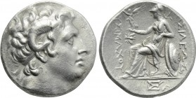 KINGS OF THRACE (Macedonian). Lysimachos (305-281 BC). Tetradrachm. Ephesos.