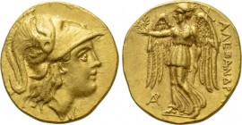 KINGS OF MACEDON. Alexander III 'the Great' (336-323 BC). GOLD Stater. Arados.