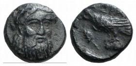 Mysia, Adramytion, 4th century BC. Æ (10mm, 1.65g, 6h). Laureate head of Zeus facing slightly r. R/ Eagle standing l. on base(?); grain ear to l. SNG ...