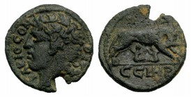 Mysia, Parion. Pseudo-autonomous issue, c. 3rd century AD. Æ (20mm, 4.70g, 6h). Bare head of Parion l. R/ She-wolf standing r., suckling the twins. SN...