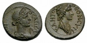 Mysia, Pergamum. Pseudo-autonomous issue, c. AD 40-60. Æ (16mm, 3.77g, 12h). Bareheaded and draped bust of Senate r. R/ Draped bust of Roma r., wearin...