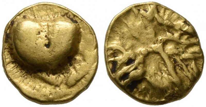 CELTIC, Central Europe. Boii. 1st century BC. 1/24 Stater (Gold, 6 mm, 0.31 g), ...