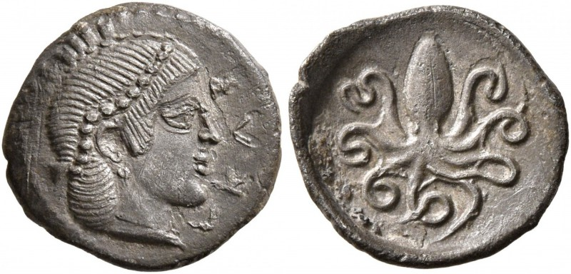 SICILY. Syracuse. Second Democracy , 466-405 BC. Litra (Silver, 11 mm, 0.73 g, 6...