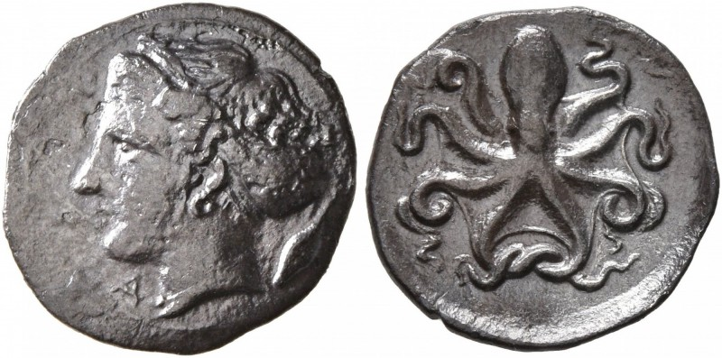 SICILY. Syracuse. Second Democracy , 466-405 BC. Litra (Silver, 12 mm, 0.81 g, 3...