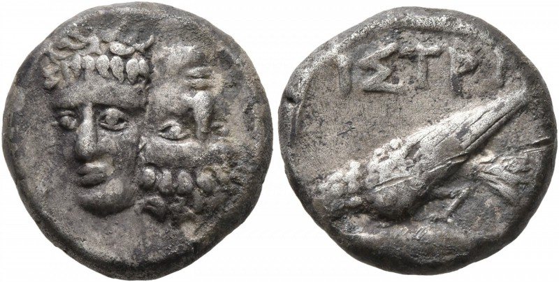 MOESIA. Istros. Circa mid to late 5th century BC. Drachm (Silver, 17 mm, 6.86 g,...
