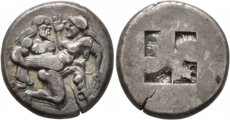 ISLANDS OFF THRACE, Thasos. Circa 463-449 BC. Stater (Silver, 20 mm, 8.69 g). Nu...