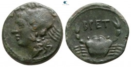 Bruttium. The Brettii circa 216-214 BC. Quartuncia Æ