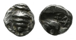Ionia, Ephesos. ca.500-420 BC. AR Tetartemorion (5mm, 0.19g). Bee / Head of eagle left within incuse square. Karwiese Series IV; SNG Kayhan 126-34 var...