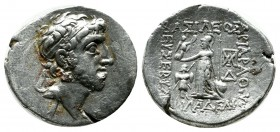 Kings of Cappadocia. Ariobarzanes III Eusebes Philoromaios, 52-42 BC. AR Drachm (17mm, 3.93g). Diademed head right. / BAΣIΛEΩΣ APIOBAPZANOY EYΣEBOYΣ K...