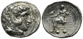 Kings of Macedon. Alexander III 'the Great'. 336-323 BC. AR Tetradrachm (28mm, 17.14g). Tyre mint. Struck under Menes. Dated RY 26 of Azemilkos (324/3...