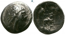 Eastern Europe. Imitations of Alexander III of Macedon  circa 200-100 BC. Tetradrachm AR
