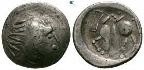 "Eastern Europe. Mint in the region of Transylvania. Imitations of Philip II of Macedon circa 200-100 BC. ""Tetradrachm"" AR. Sattelkopfpferd type"