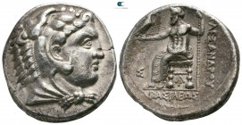 "Kings of Macedon. Arados. Alexander III ""the Great"" 336-323 BC.  Struck under Menes or Laomedon circa 328-320 BC. Tetradrachm AR"