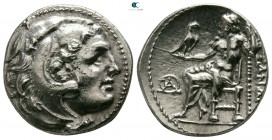 "Kings of Macedon. Mylasa. Alexander III ""the Great"" 336-323 BC. Struck circa 300-280 BC. Drachm AR"