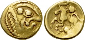 WESTERN EUROPE. Northeast Gaul. Bellovaci (Circa 60-30/25 BC). GOLD Stater.